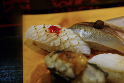 〆秋刀魚と烏賊