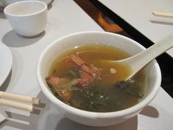サービスのスープの写真