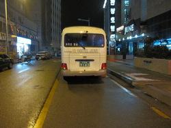 朝7時だというのに夜も明けきれぬ仁川市街の写真