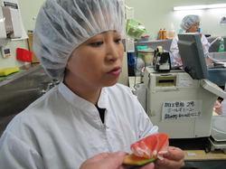 千代子さん、感激の味・・には見えない(^_^;)