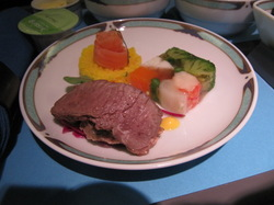 羊肉のスモークの前菜