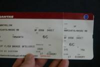 ボンバルディアDHC8に登場したときのチケットです。