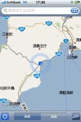 函館を過ぎて津軽海峡線に乗って青函トンネルへ。個々までですでに5時間経過という画像